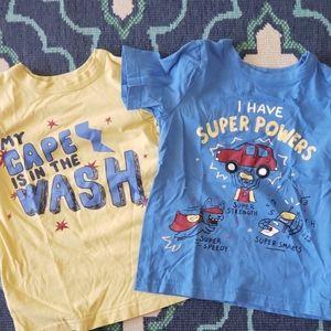 2 boys size 5 joe fresh tshirts EUC